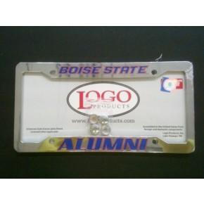 Boise State University , Chrome Plastic License Plate Frame, Alumni
