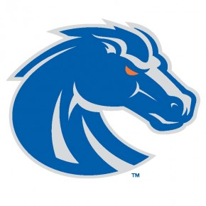 Boise State University - Sticker - New Bronco Logo - Blue and Silver - Small