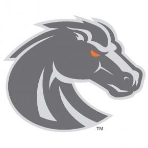 Boise State University - Sticker - Small - New Bronco Logo -  Grey