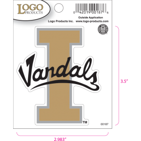 University of Idaho - Sticker - Small - 'I Vandals'