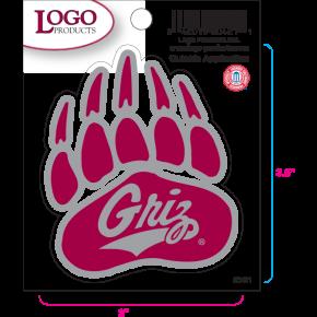 University of Montana- Sticker - Small - Paw Logo
