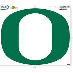 University of Oregon - Sticker - Large - Green 'O'
