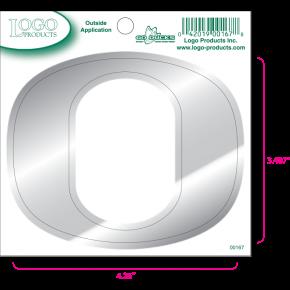 University of Oregon - Sticker - Small - O - Chrome