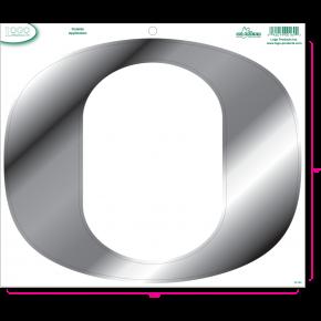 University of Oregon - Sticker - Medium - O - Chrome