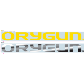 University of Oregon - Sticker - Windshield Chrome 'Orygun'