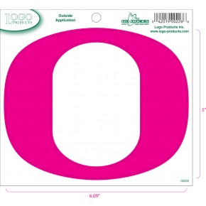 University of Oregon - Sticker - Medium - O - Pink