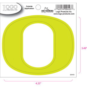 University of Oregon - Sticker - Small - Neon 'O'