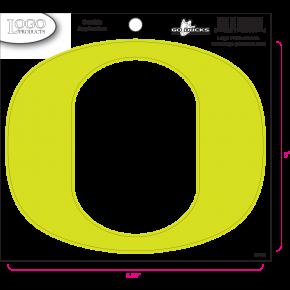 University of Oregon - Sticker - Medium - Neon 'O'