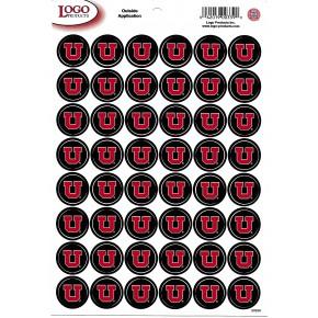University of Utah - Mini Sticker Sheet - Black with Red U