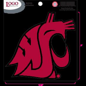 Washington State University - Sticker - Medium - Crimson Logo