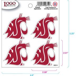 Washington State University - Sticker - Quad - Crimson