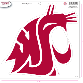 Washington State University - Sticker - Large - Crimson Logo