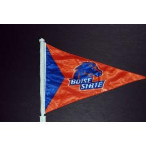 Boise State University - Car Flag - Orange Pennant - Blue triangle