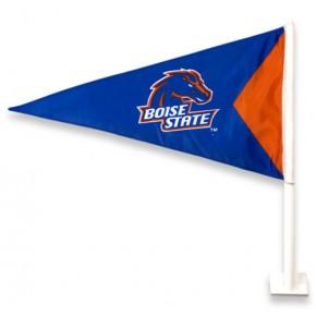 Boise State University - Car Flag - Blue Pennant - Orange Triangle