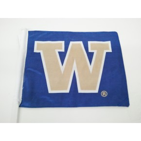 "University of Washington - Car Flag - Purple with Beige ""W"""