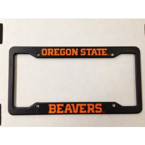 Oregon State University, Black Plastic License Plate Frame, Oregon State Beavers