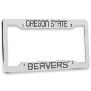 Oregon State University, Chrome Plastic License Plate Frame, Oregon State Beavers