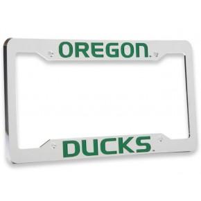 University of Oregon, Chrome Plastic License Plate Frame, Oregon Ducks
