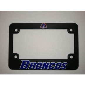 Boise State University, Black Plastic MOTORCYCLE License Plate Frame, Broncos