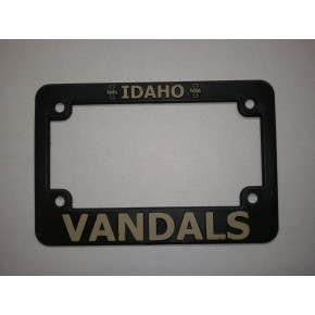 University of Idaho, Black Plastic MOTORCYCLE License Plate Frame, Vandals
