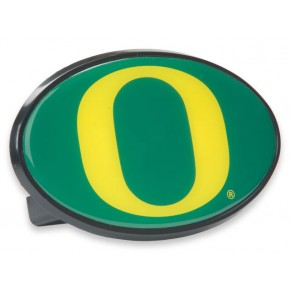 "University of Oregon - Hitch Cover - Snap Cap - Yellow with Green ""O"""