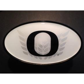 University of Oregon - Hitch Cover - Snap Cap - Chevron O - White