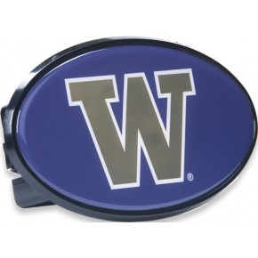 "University of Washington - Hitch Cover - Snap Cap - Purple with Gold ""W"""