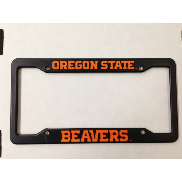 Oregon State University, Black Plastic License Plate Frame, Oregon ...