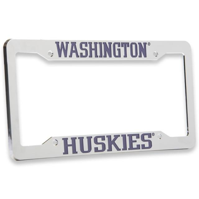 University of Washington , Chrome Plastic License Plate Frame ...