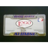 Boise State University , Chrome Plastic License Plate Frame, Alumni