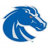 Boise State University - Sticker - Medium - New Bronco Logo - Blue and Silver