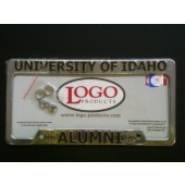 University of Idaho , Chrome Plastic License Plate Frame, Idaho Vandals - Alumni