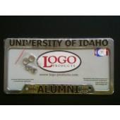 University of Idaho , Chrome Plastic License Plate Frame, Idaho Vandals - Alumni