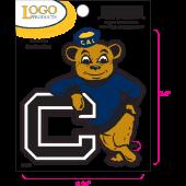 University of California Berkeley - Sticker - Small - Bear and C