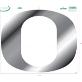 University of Oregon - Sticker - Medium - O - Chrome