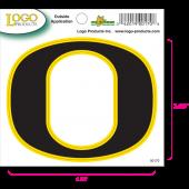 University of Oregon - Sticker - Small - O - Black and Yellow