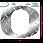 University of Oregon - Sticker - Medium - O - Diamond Plate