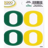 University of Oregon - Sticker - Quad - O - Yellow and Green