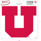 University of Utah - Sticker - Medium - Red 'U'