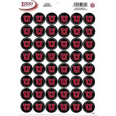 University of Utah - Mini Sticker Sheet - Black with Red U