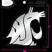 Washington State University - Sticker - Medium - Chrome