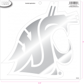 Washington State University - Sticker - Large - Chrome