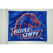 Boise State University - Car Flag - Blue Rectangle