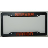 Oregon State University, Black Plastic License Plate Frame, Beaver Nation
