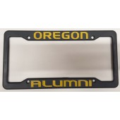 University of Oregon, Black Plastic License Plate Frame, Oregon Alumni