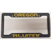 University of Oregon, Black Plastic License Plate Frame, Oregon Alumni