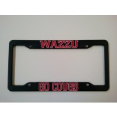 Washington State University, Black Plastic License Plate Frame, Go Cougs