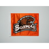 Oregon State University - Car Flag - Orange with Beaver Logo