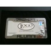 Oregon State University , Chrome Plastic License Plate Frame, Oregon State Alumni