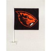 Oregon State University - Car Flag - Black with Beaver Logo